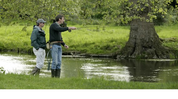 corporate fishing day heale river avon